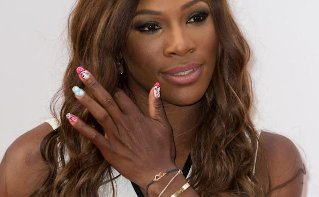 "<p>This time, it wasn't Williams's makeup that put her beauty skills on display, but her nails, which gave a pop of hot pink and white <a href=""https://www.popsugar.com/beauty/Celebrity-Nail-Art-Summer-46320128"" class=""link rapid-noclick-resp"" rel=""nofollow noopener"" target=""_blank"" data-ylk=""slk:with intricate details"">with intricate details</a> and showed off her fun personality.</p>"