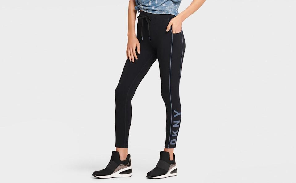 """<p><strong>Donna Karan</strong></p><p>donnakaran.com</p><p><strong>$55.00</strong></p><p><a href=""""https://go.redirectingat.com?id=74968X1596630&url=https%3A%2F%2Fwww.donnakaran.com%2Fproduct%2Fpiping%2Bdetail%2Blegging.do%3Fsortby%3DourPicks%26from%3Dfn%26selectedOption%3D573630&sref=https%3A%2F%2Fwww.seventeen.com%2Ffashion%2Fg30200784%2Fbest-leggings-brands%2F"""" rel=""""nofollow noopener"""" target=""""_blank"""" data-ylk=""""slk:Shop Now"""" class=""""link rapid-noclick-resp"""">Shop Now</a></p><p>I have a pair of DKNY leggings and I can guarantee they will stay up during your workout and keep you looking chic throughout the day. </p>"""