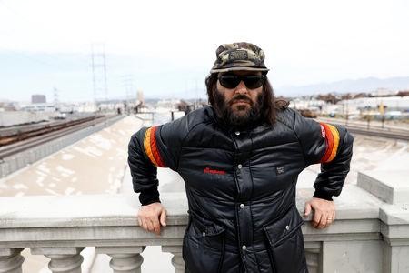 Erik Brunetti, Los Angeles artist and streetwear designer of the clothing brand FUCT stands for a portrait in Los Angeles, California, U.S., April 7, 2019. REUTERS/Patrick T. Fallon