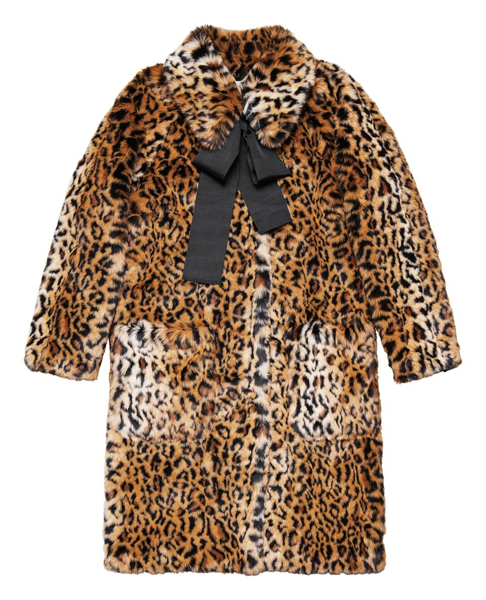 """<p>Leopard print is major news this season so why not invest in a sweet ribbon-collared coat from the designer label? <em><a rel=""""nofollow noopener"""" href=""""http://www2.hm.com/en_gb/index.html"""" target=""""_blank"""" data-ylk=""""slk:H&M"""" class=""""link rapid-noclick-resp"""">H&M</a>, £149.99 </em> </p>"""