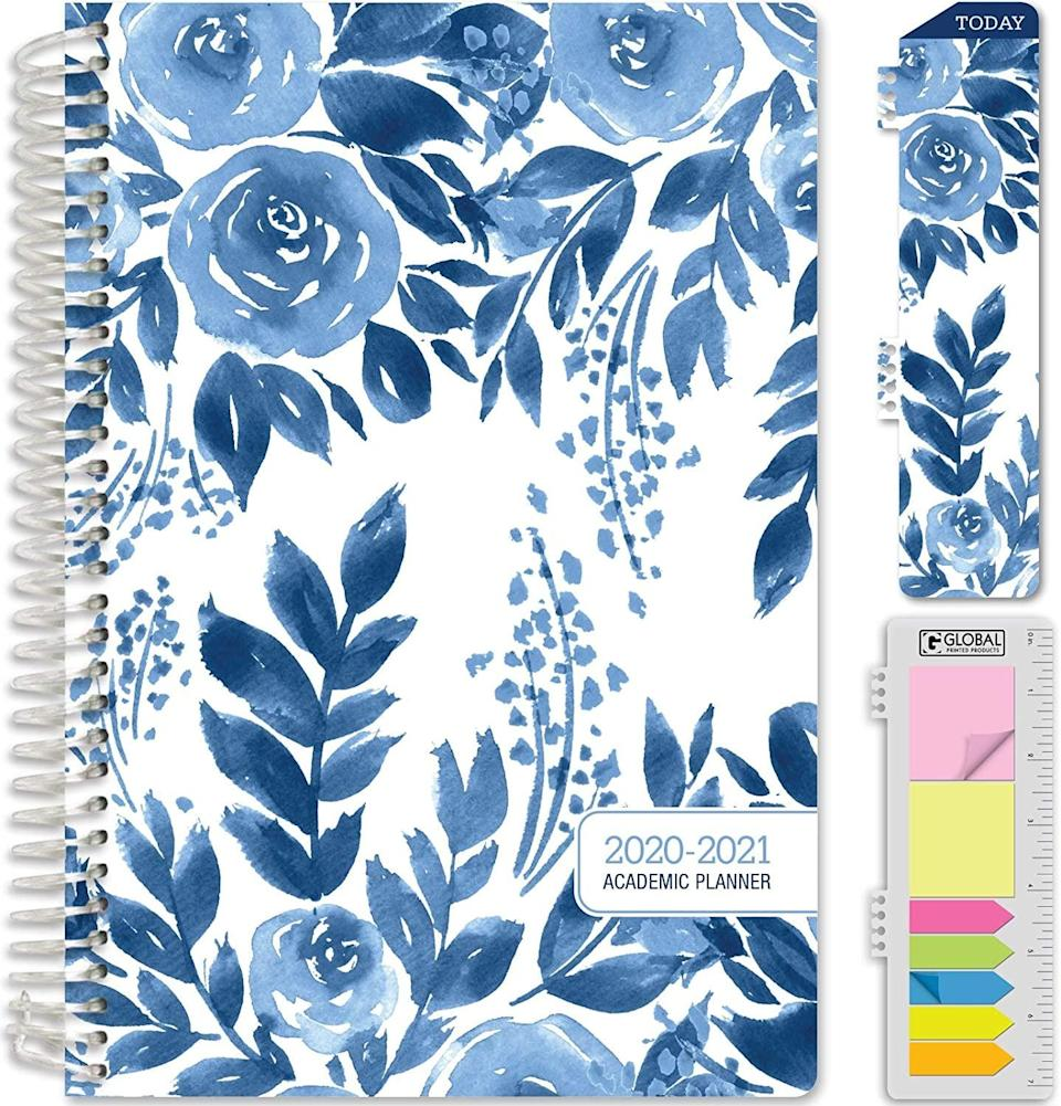 <p>This <span>Global Printed Products Academic Planner 2020-2021</span> ($17) comes with bookmarks and sticky notes. Everything's right there for you.</p>