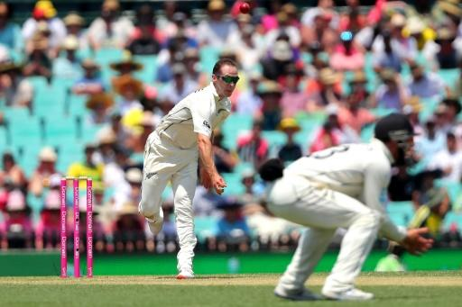 The Kiwis finally dispatched Labuschagne after he was caught and bowled by leg-spinner Todd Astle
