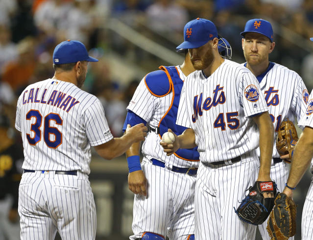 """<a class=""""link rapid-noclick-resp"""" href=""""/mlb/players/9124/"""" data-ylk=""""slk:Zack Wheeler"""">Zack Wheeler</a> will now wait five days to find out if he'll have the chance to pitch for a contender. (USA Today Sports)"""