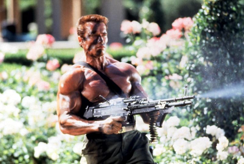 Schwarzenegger was in peak physical shape during the production of 'Commando' (Photo: 20th Century Fox Film Corp. Courtesy: Everett Collection)