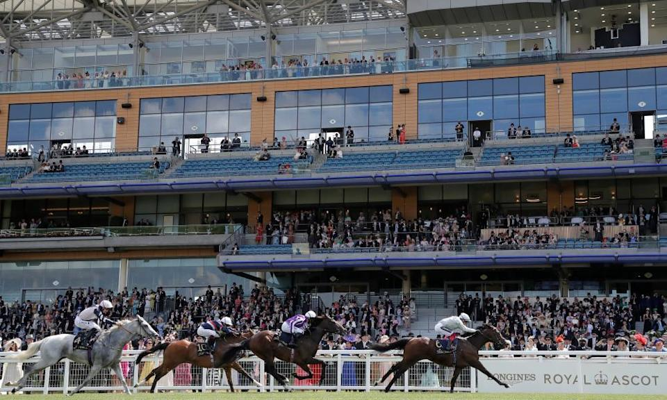 Palace Pier won in front of a relatively muted crowd of 12,000 at Ascot.