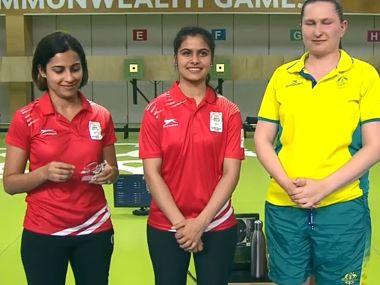 Manu Bhaker won gold while Heena Sidhu won silver in the 10m air pistol event.