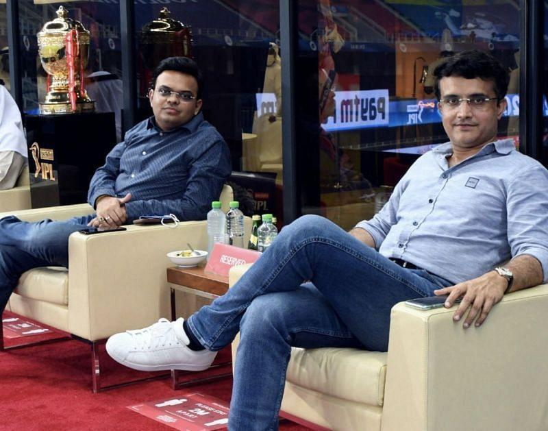 Sourav Ganguly (right) is the BCCI President and Jay Shah is the Board Secretary. (Photo credit: Sourav Ganguly's Twitter)