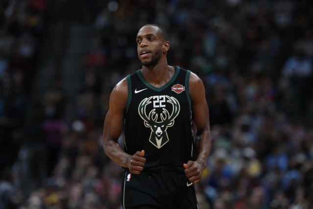 Milwaukee Bucks forward Khris Middleton silenced TD Garden with a game-tying three at the buzzer. (AP Photo)