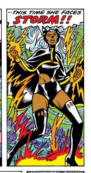 Storm's first costume