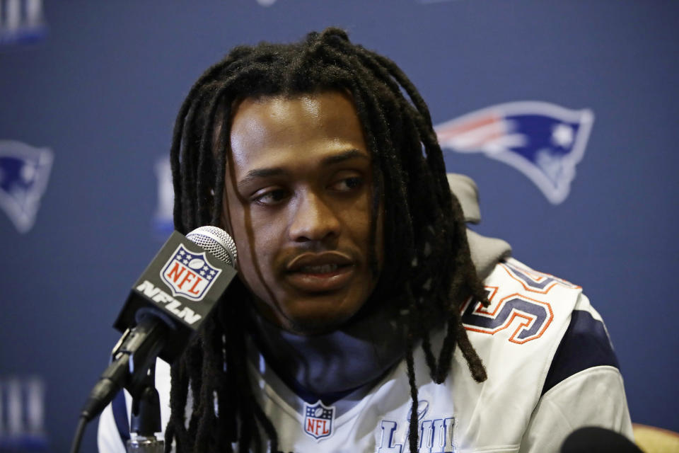 New England Patriots linebacker Dont'a Hightower is one of the players to opt out of the 2020 season. (AP Photo/Matt Rourke)