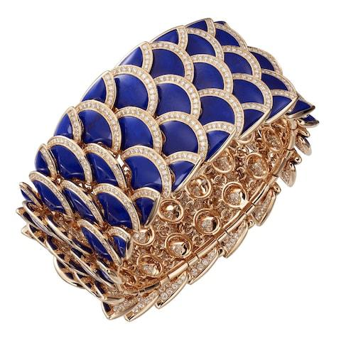 Cartier Eurythmie bracelet in pink gold with lapis lazuli and diamonds