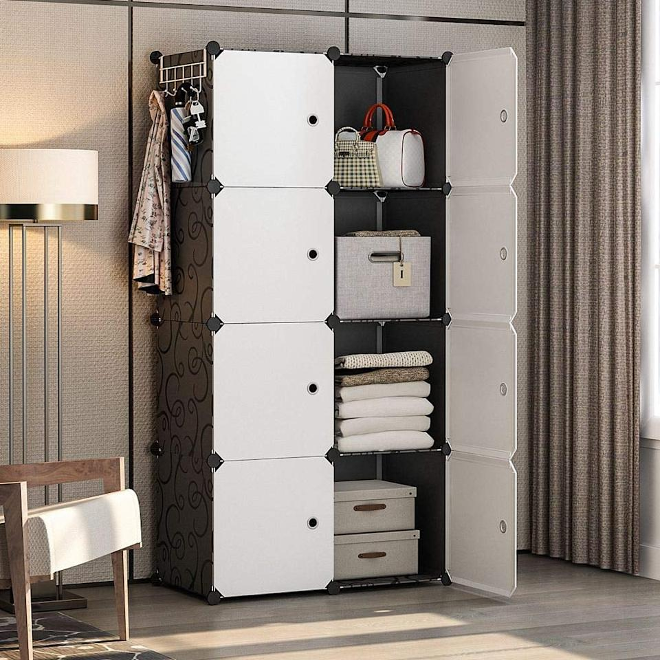 "<p>This <a href=""https://www.popsugar.com/buy/Yozo-Modular-Wardrobe-Portable-Dresser-512092?p_name=Yozo%20Modular%20Wardrobe%20Portable%20Dresser&retailer=amazon.com&pid=512092&price=45&evar1=casa%3Aus&evar9=46855120&evar98=https%3A%2F%2Fwww.popsugar.com%2Fphoto-gallery%2F46855120%2Fimage%2F46855277%2FYozo-Modular-Wardrobe-Portable-Dresser&list1=shopping%2Camazon%2Cfurniture%2Cdressers&prop13=api&pdata=1"" rel=""nofollow"" data-shoppable-link=""1"" target=""_blank"" class=""ga-track"" data-ga-category=""Related"" data-ga-label=""https://www.amazon.com/YOZO-Polyresin-Organizer-Multifunction-Furniture/dp/B07SPZVH2T/ref=sr_1_43?keywords=dresser&amp;qid=1572984924&amp;sr=8-43"" data-ga-action=""In-Line Links"">Yozo Modular Wardrobe Portable Dresser</a> ($45) will make your inner Marie Kondo so excited to start organzing.</p>"
