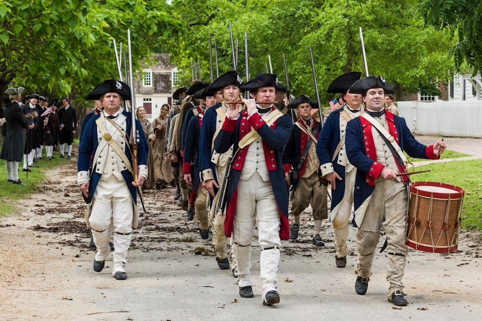 """<p>Next season, the American revolution will begin to play a role in the plot of <em>Outlander, </em>and as always, the Frasers get caught up in the pivotal historical events. If that time period is intriguing, you may want to go ahead and watch <em>Turn, </em>an AMC show focused on George Washington's spies during the rebellion.</p><p> <a class=""""link rapid-noclick-resp"""" href=""""https://www.amazon.com/TURN-Washingtons-Spies-Season-1/dp/B00J5UARN6?tag=syn-yahoo-20&ascsubtag=%5Bartid%7C10067.g.28484672%5Bsrc%7Cyahoo-us"""" rel=""""nofollow noopener"""" target=""""_blank"""" data-ylk=""""slk:Watch Now"""">Watch Now</a></p>"""