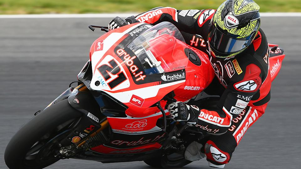 Troy Bayliss, pictured here during at race at Phillip Island in 2015.