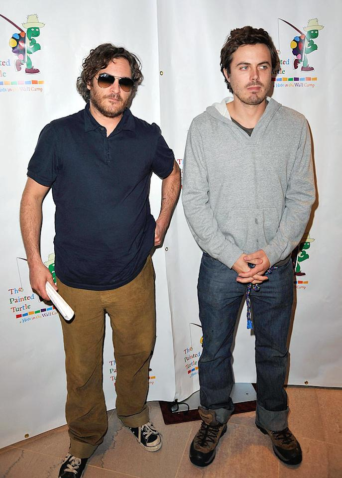 """Joaquin Phoenix (with Casey Affleck) informed """"Extra"""" on the red carpet that this would be his last performance as an actor. """"I'm not doing films anymore,"""" he revealed. <a href=""""http://www.gettyimages.com/"""" target=""""new"""">GettyImages.com</a> - October 27, 2008"""