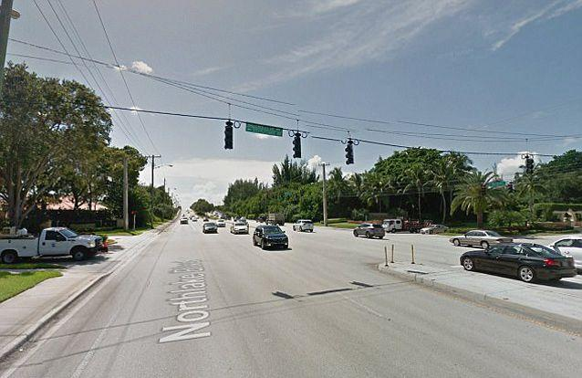 The intersection in Palm Beach Gardens, Florida, where the accident occurred. Source: Google Maps