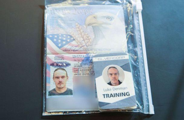 PHOTO: The passport of arrested US citizen Luke Deman, during a video conference meeting with international media correspondents, at Miraflores Presidential Palace in Caracas, May 6, 2020. (Marcelo Garcia/Venezuelan Presidency/AFP/Getty Images)
