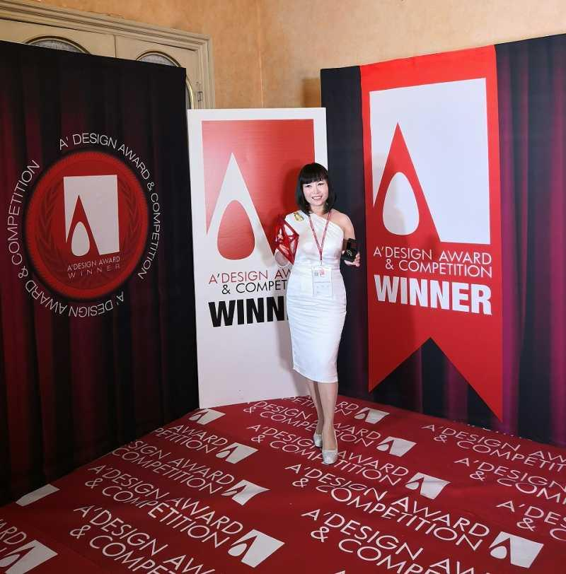 Wong was in Como, Italy to accept her award. ― Picture courtesy of Tina Winness Wong