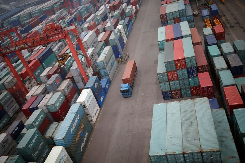 South Korea exports to grow for second month but recovery at risk