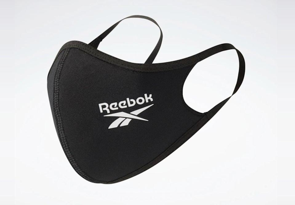 <p>Don't forget to wear a mask! The washable <span>Reebok Face Covers</span> ($30) are made from a breathable fabric and come in a pack of three.</p>
