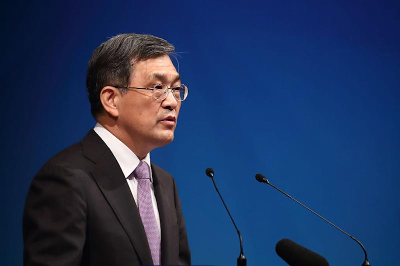Samsung said it was expecting record profits — then, its CEO resigned