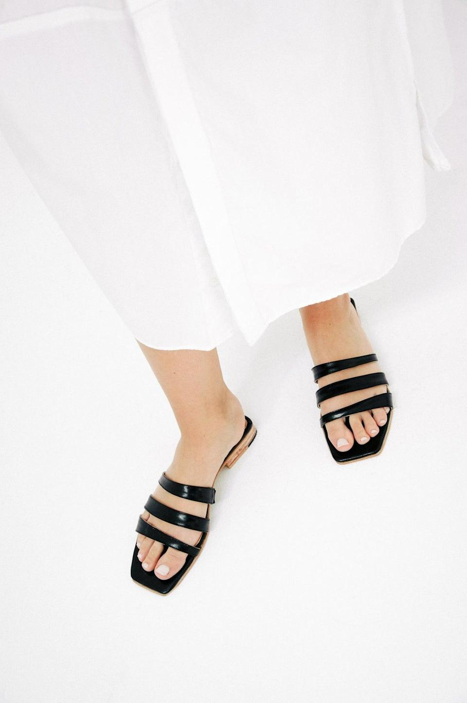 """<br><br><strong>Zou Xou</strong> Lagos Sandal in Black, $, available at <a href=""""https://go.skimresources.com/?id=30283X879131&url=https%3A%2F%2Fwww.etsy.com%2Flisting%2F822505411%2Flagos-sandal-in-black"""" rel=""""nofollow noopener"""" target=""""_blank"""" data-ylk=""""slk:Etsy"""" class=""""link rapid-noclick-resp"""">Etsy</a>"""