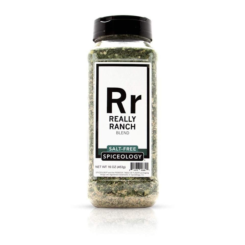 """<p>""""I like my food pretty plain, but I got so excited when I sprinkled this <span>Spiceology Really Ranch</span> ($22) on my baked potato. It's made with onion, garlic, and chives, is vegan, salt-free, and so full of bold flavor. I love it sprinkled on cooked whole grains like rice or quinoa, salad, and beans. I used to only use Everything but the Bagel Seasoning, but this is my new favorite!"""" - JS</p>"""