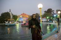 FILE PHOTO: A Taliban soldier stands in a park in Herat