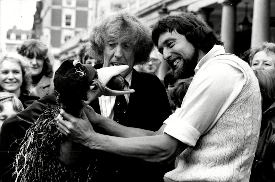 Taking on Rod Hull and Emu in 1981 - Shutterstock