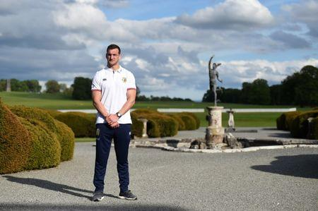 FILE PHOTO: Rugby Union - British & Irish Lions Training & Press Conference - Carton House, Co. Kildare, Ireland - 22/5/17 British & Irish Lions Sam Warburton poses for a photo Reuters  / Clodagh Kilcoyne Livepic