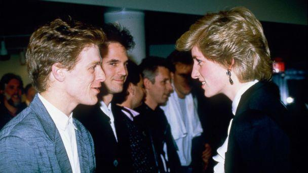 Princess Diana meets Bryan Adams after a concert in Vancouver during her tour of Canada in 1986. (Getty)