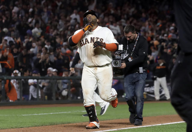 Pablo Sandoval will undergo Tommy John surgery in September. (AP Photo/Jeff Chiu)