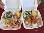 "<p><strong><a href=""https://www.yelp.com/biz/aloha-shrimp-hauula"" rel=""nofollow noopener"" target=""_blank"" data-ylk=""slk:Aloha Shrimp"" class=""link rapid-noclick-resp"">Aloha Shrimp</a>, Hauula</strong></p><p>""This is the best garlic shrimp I have tasted in north shore Hawaii. I always get the spicy garlic shrimp plate. It's not that spicy. The shrimp is juicy and cooked just right. The portion is good and it's not super pricey or garlicky."" — Yelp user <a href=""https://www.yelp.com/user_details?userid=ypYOMJtpd29h1GP9E4QpaA"" rel=""nofollow noopener"" target=""_blank"" data-ylk=""slk:Rachana K."" class=""link rapid-noclick-resp"">Rachana K.</a></p><p>Photo: Yelp/<a href=""https://www.yelp.com/user_details?userid=XwEvyADqdvajXEuzZOVhFg"" rel=""nofollow noopener"" target=""_blank"" data-ylk=""slk:Randall W."" class=""link rapid-noclick-resp"">Randall W. </a></p>"