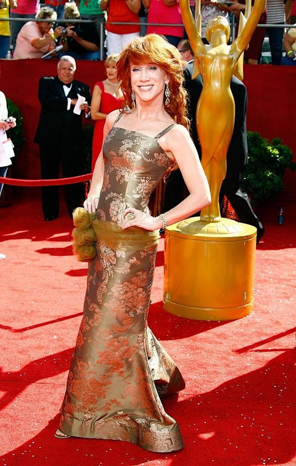 WORST: Kathy Griffin at the 60th Primetime Emmy Awards held at the NOKIA Theatre on Septmeber 21, 2008.