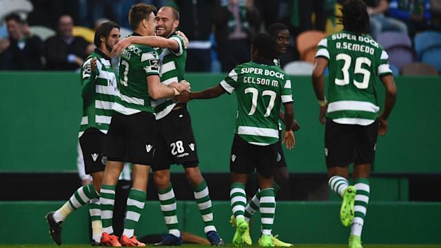 The Netherlands international scored both goals in Sporting's 2-0 win over Nacional, taking his tally to 24 in 23 league games this season