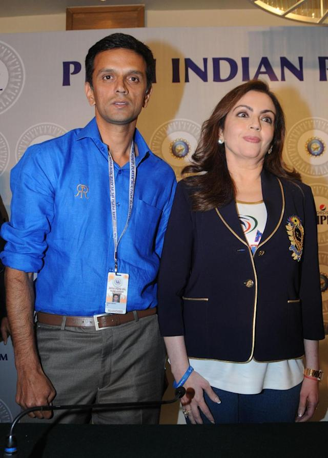 Mumbai Indians owner Nita Ambani during the two-day player auctions for the seventh edition of the Indian Premier League(IPL) in Bangalore on Feb.12, 2014. (Photo: IANS)