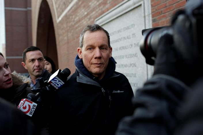 Charles Lieber leaves federal court in Boston on Jan. 30, after he was charged with lying to federal authorities in connection with aiding China. (Reuters/Katherine Taylor)