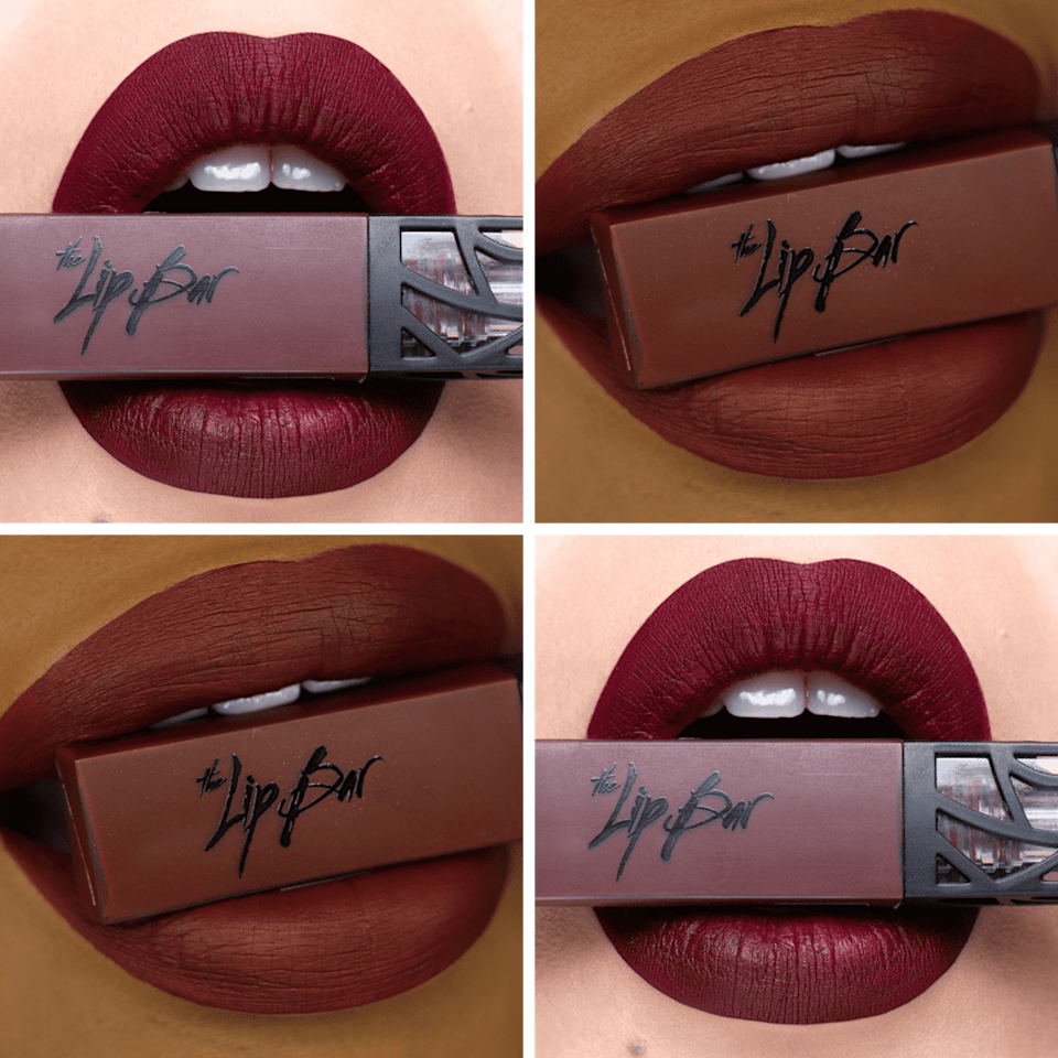 "<p><span>The Lip Bar Liquid Matte Lipstick in Rebel</span> ($13) is a beautifully rich, deep burgundy that lasts for eight to 12 hours with its non-drying vegan formula,"" said Cooper, who also shared her top tip for ensuring your lipstick looks as flawless as the lips in this picture. ""For a smooth finish that won't crack, exfoliate your lips, apply a kiss of lip balm, and then blot-off the excess prior to application."" </p>"