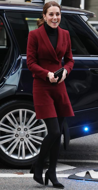 On November 21, the Duchess of Cambridge recycled her go-to Paule Ka co-ord [Photo: Getty]