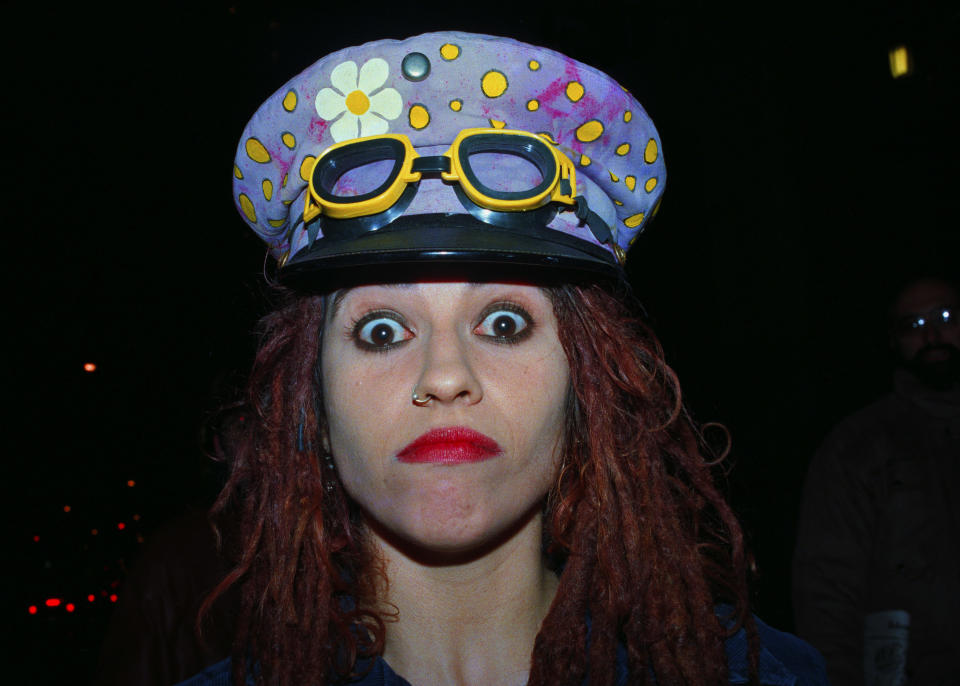 Linda Perry in 1994, the year 4 Non Blondes split. (Photo: Lawrence Schwartzwald/Sygma via Getty Images),