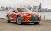 "<p>The positioning of the new <a href=""https://www.caranddriver.com/lexus/ux"" rel=""nofollow noopener"" target=""_blank"" data-ylk=""slk:Lexus UX"" class=""link rapid-noclick-resp"">Lexus UX</a> might be confusing, considering that Toyota's luxury brand already sells the slightly larger NX that competes in the same market segment (subcompact luxury crossovers). But this new model strikes us as a replacement for the old CT200h hybrid hatchback, something affordable for Lexus dealerships to dangle in front of new and entry-level customers. The <a href=""https://www.caranddriver.com/reviews/a23065063/2019-lexus-ux-crossover-first-drive/"" rel=""nofollow noopener"" target=""_blank"" data-ylk=""slk:cheaper UX200"" class=""link rapid-noclick-resp"">cheaper UX200</a> comes standard with front-wheel drive and a four-cylinder engine with 169 horsepower, while the slightly more expensive UX250h hybrid's gas-electric powertrain packs 181 horsepower and all-wheel drive.</p><ul><li>Engines: 169-hp 2.0-liter inline-four; 143-horsepower 2.0-liter inline-four, AC electric motor, 181 combined horsepower </li><li>Cargo space: 22 cubic feet </li></ul><p><a class=""link rapid-noclick-resp"" href=""https://www.caranddriver.com/lexus/nx/specs"" rel=""nofollow noopener"" target=""_blank"" data-ylk=""slk:MORE UX SPECS"">MORE UX SPECS</a></p>"