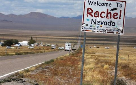 Traffic on Highway 375 as an influx of tourists responding to a call to 'storm' Area 51 - Credit: Reuters