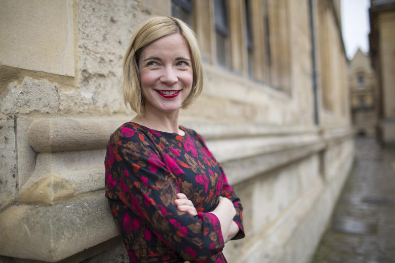 OXFORD, ENGLAND - APRIL 09: Lucy Worsley, historian and television presenter, photographed at the FT Weekend Oxford Literary Festival on April 9, 2016 in Oxford, England. (Photo by David Levenson/Getty Images)