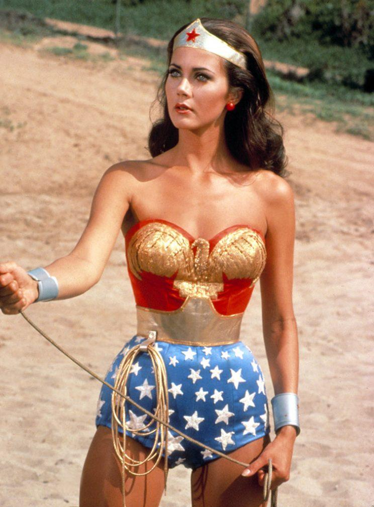 Lynda Carter as Wonder Woman on TV.