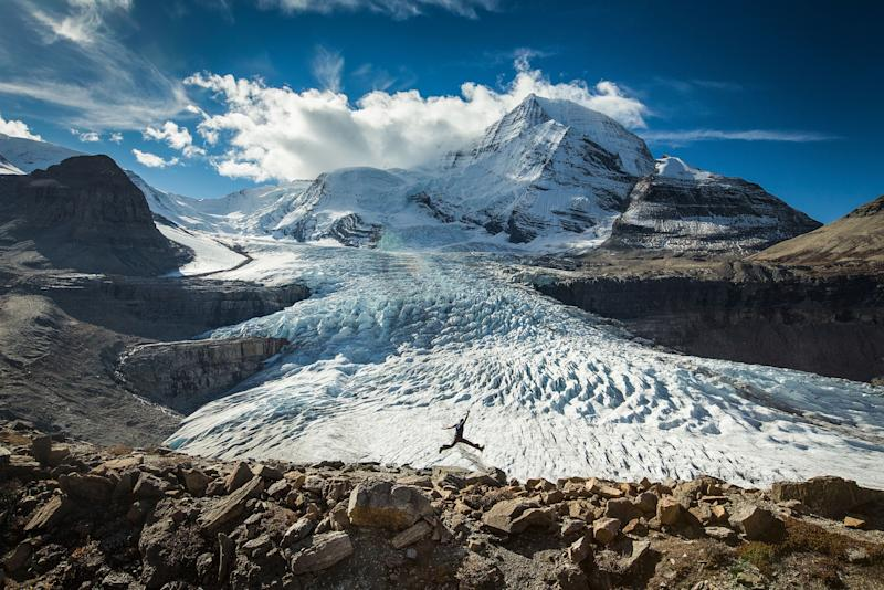 One of Pauls amazing self portraits. at Mount Robson Provincial Park, British Columbia, Canada. (Photo: Paul Zizka/Caters News)