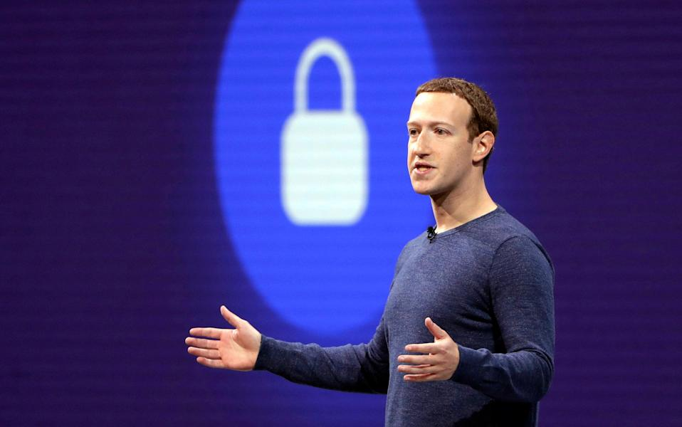 Facebook, whose CEO Mark Zuckerberg is pictured in 2018, said the leaked user data was from 2019 (AP)