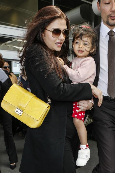 Aaradhya arrives in Cannes