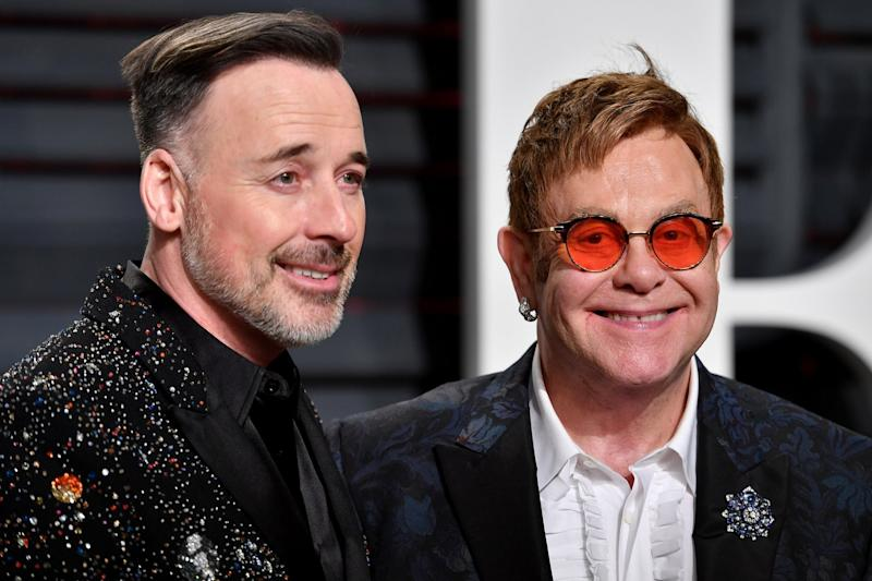 Proud parents: David Furnish and Sir Elton John: Pascal Le Segretain/Getty