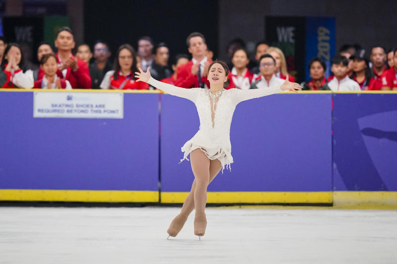 Singapore's Chloe Ing performing her routine en route to a gold medal in figure skating. (PHOTO: SNOC/Kong Chong Yew)