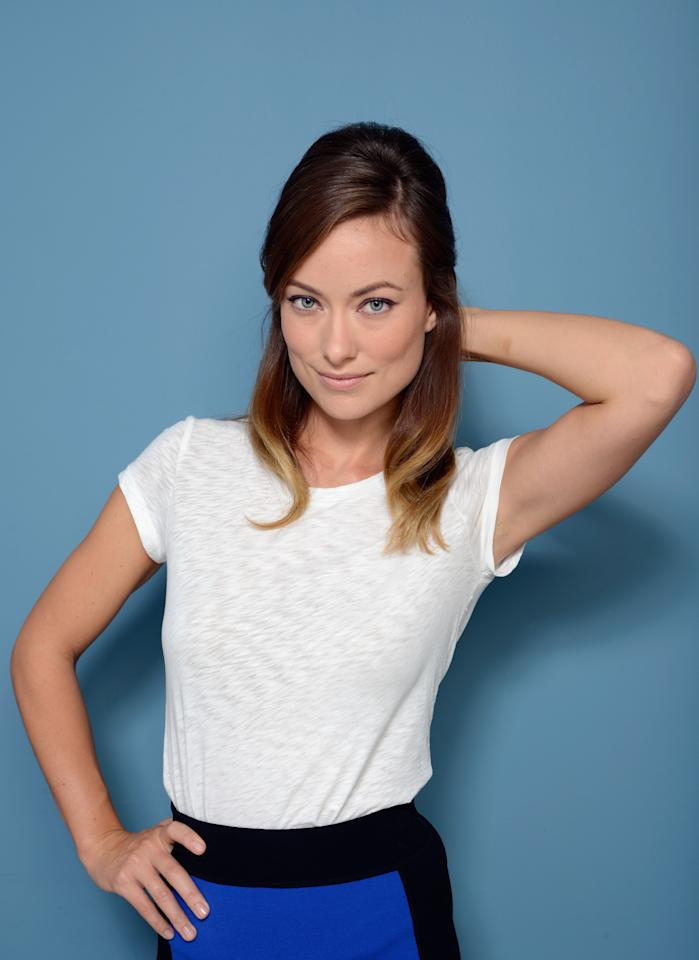 TORONTO, ON - SEPTEMBER 10: Actress Olivia Wilde of 'Third Person' poses at the Guess Portrait Studio during 2013 Toronto International Film Festival on September 10, 2013 in Toronto, Canada. (Photo by Larry Busacca/Getty Images)